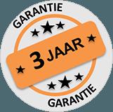 3 jaar garantie op schoonmaakmachines