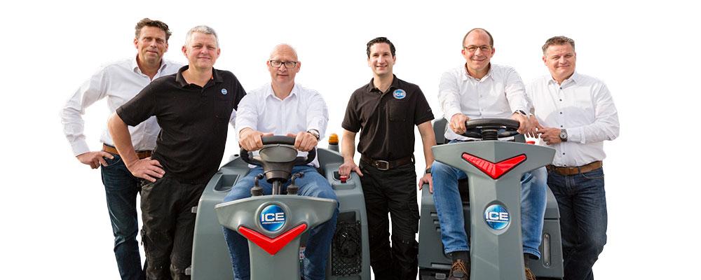 Team ICE Benelux Schoonmaakmachines - Schrobmachines - Veegmachines